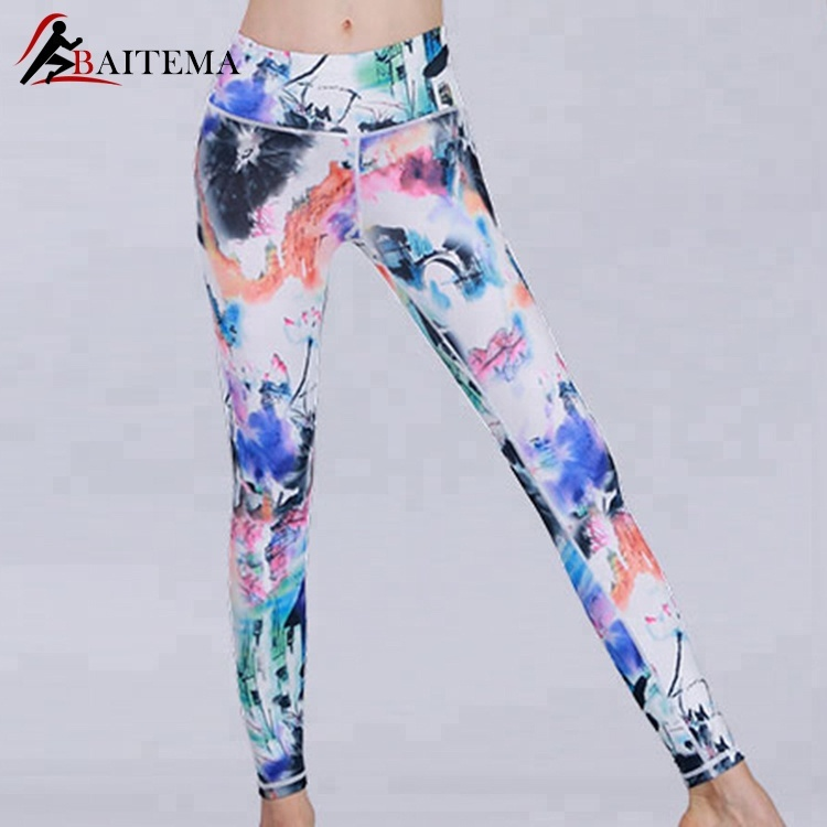 Nouveau Design Imprimé Yoga Pantalon Femmes Push Up Professionnel Running Fitness Gym Sport Leggings Collants Pantalon