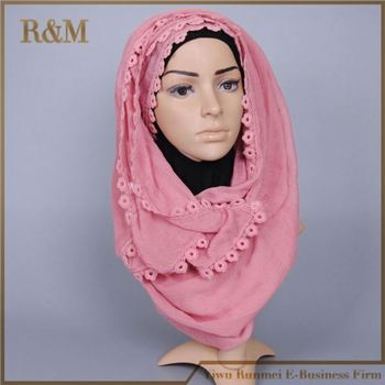 Fashion colorful muslim hijab head scarf