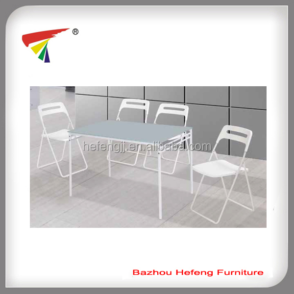 Outdoor white glass dining set livingroom furniture