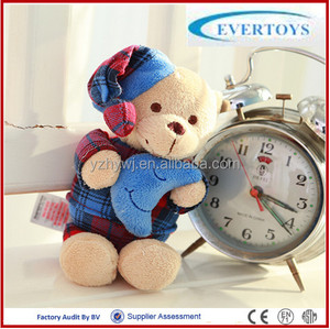custom teddy bear with pajamas moon