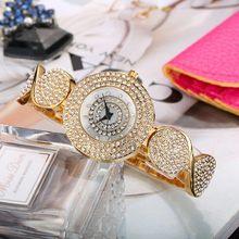 Женские кварцевые часы MISSFOX, Круглые Наручные часы золотого цвета с алмазным декором, рождественский подарок(China)