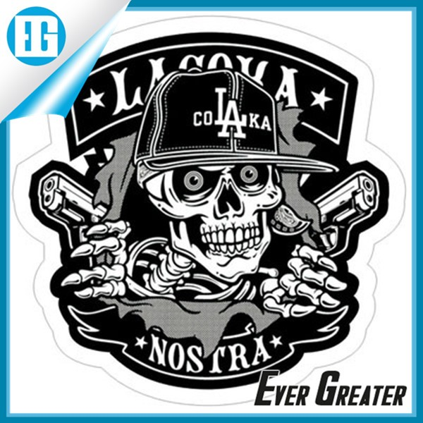 Customized pvc sticker motorcycle sticker design