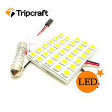 Led para coche Dome Light Reading puerta PCB 5050 18SMD con 3 adaptadores T10 BA9S Adorno