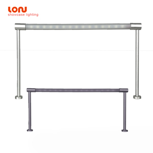 8428 4500K DC12V 5050 Pure White Display Cabinet Rotating LED Bar Jewelry Case LED Showcase Lighting with Diffuser Cover