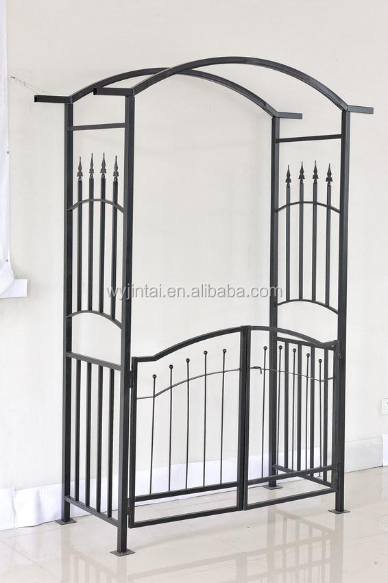 Hierro forjado jard n arcos con puerta buy product on for Arcos para jardin