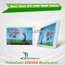cheap 7inch rk3168 dual core ips tablet pc 1280*800p metal houing