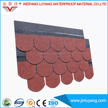 Singles Layer Roofing Tile High Quality Colorful Asphalt Shingle
