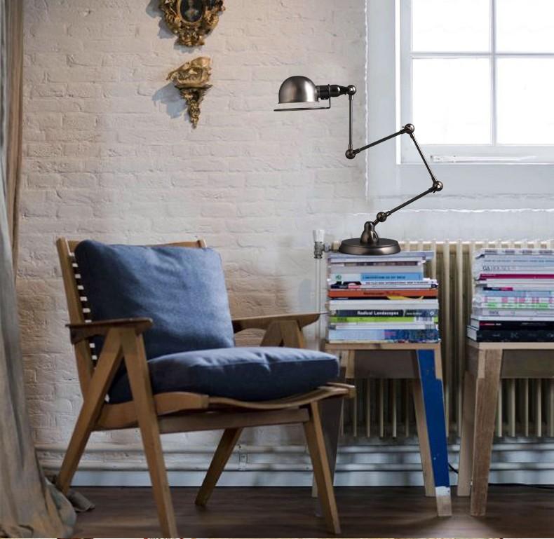 Folding Adjust Long Arm Antique Table Lamp