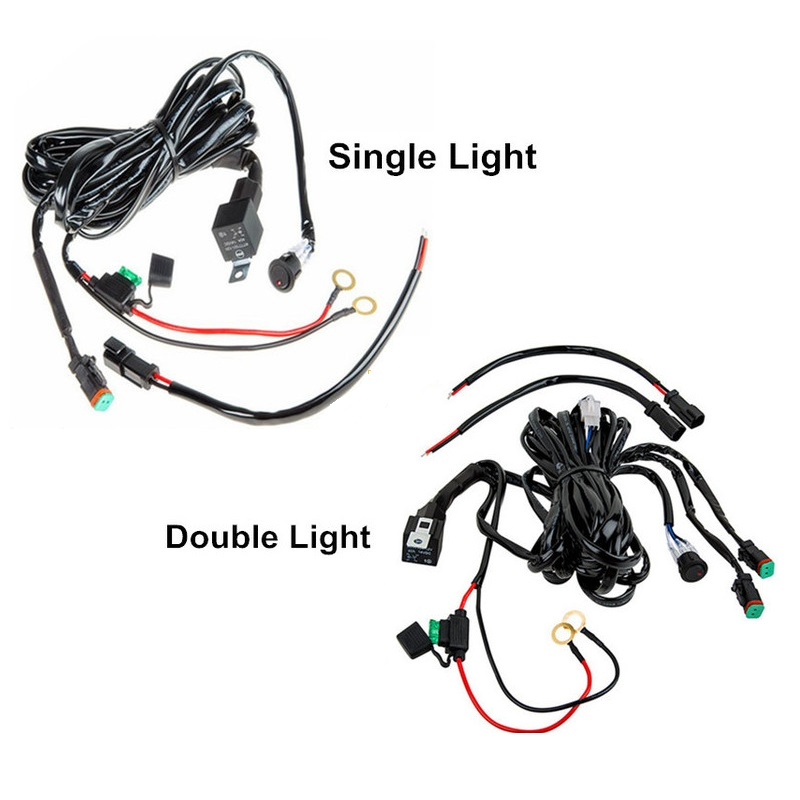 car led light bar wire 3m 12v 24v 40a wire automobile