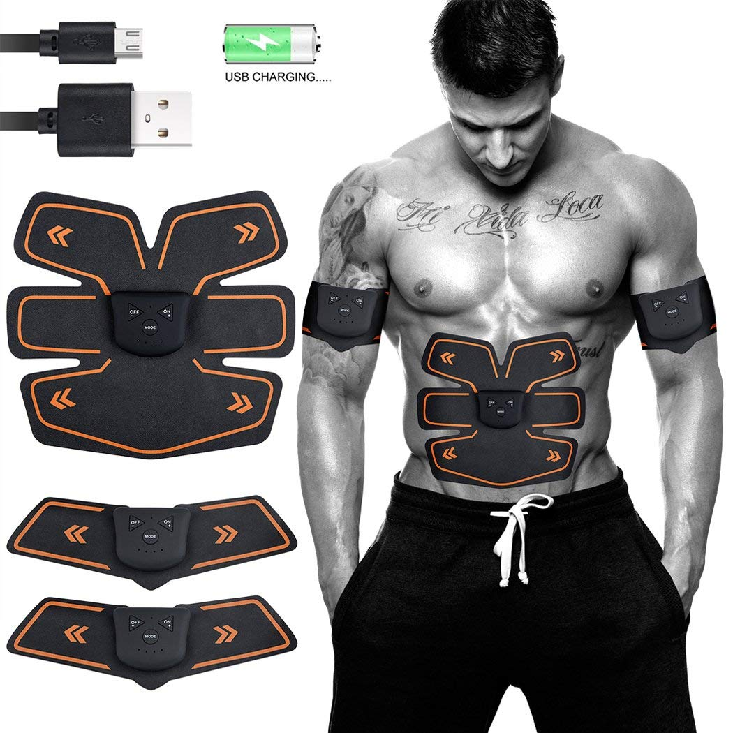 ABS Stimulator Rechargeable Muscle Trainer Vlikeze Muscle Toning Abdominal toning belt Ultimate ABS Stimulator for Men & Women EMS Training Fitness Equipment for Abdomen/Leg/Arm/Waist