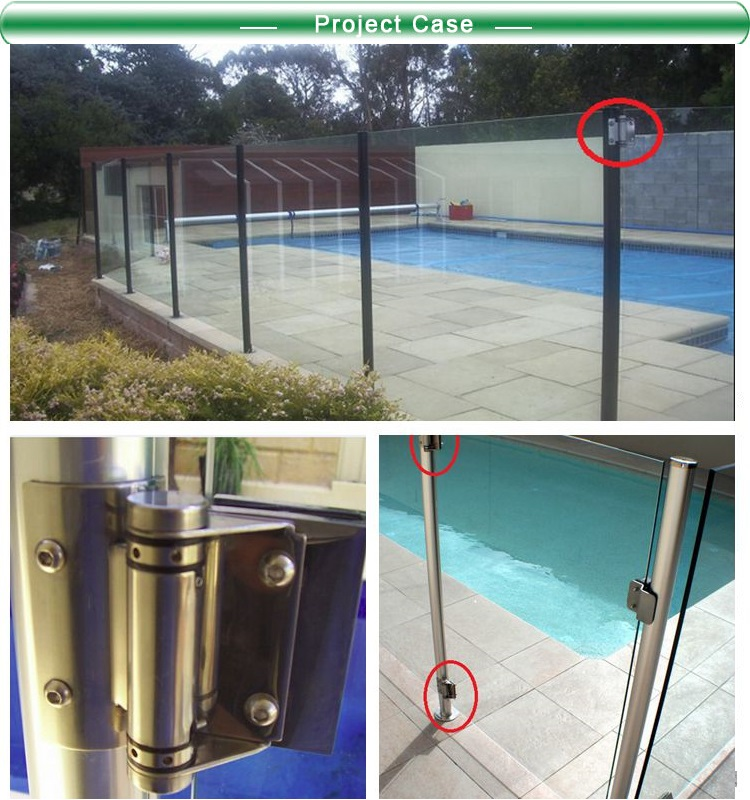 Swimming Pool Fencing Stainless Steel 360 Degree Door