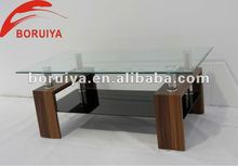 Glass and Wooden coffee table