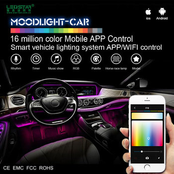 high quality fiber optic light kit for car decoration smart app wifi