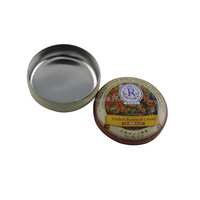 2016 New products small flat round tin container for lip balm packing