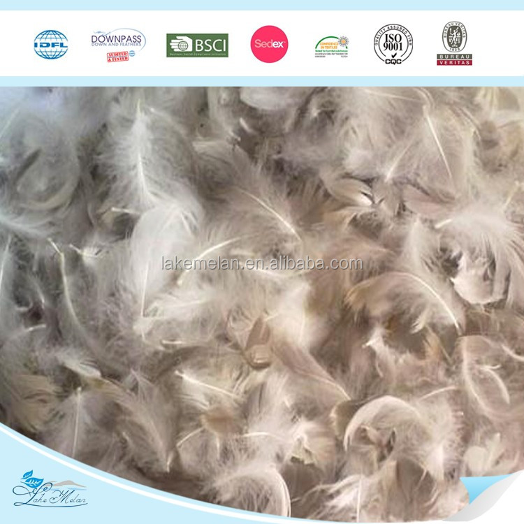 2-4cm Washed Grey Duck Down Feathers Wholesale