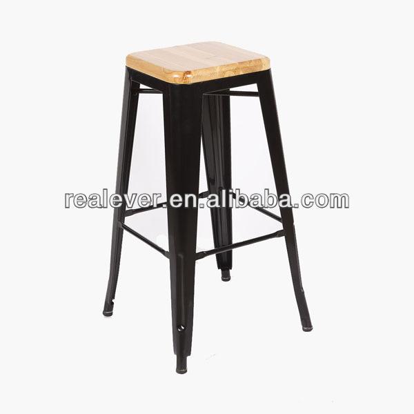 xavier pauchard vintage en m tal de conception haut tabouret avec en bois coussin tabourets de. Black Bedroom Furniture Sets. Home Design Ideas