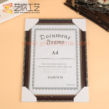 Plastic Photo Frame A4 Size Blank Certificate Frame - Buy A4 Size ...