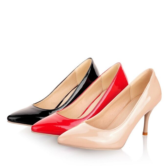 e0371717bb Get Quotations · Large Size 34-45 New Fashion high heels women pumps  stiletto high heel classic white