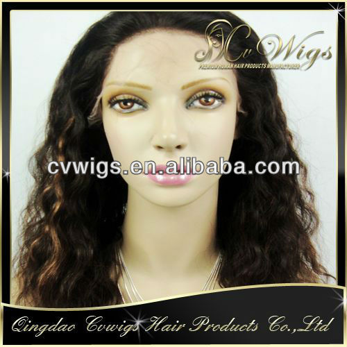 New arrival fashionable glueless silk top full lace wig