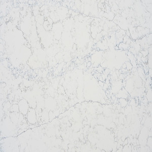 Faux white carrara quartz stone slab