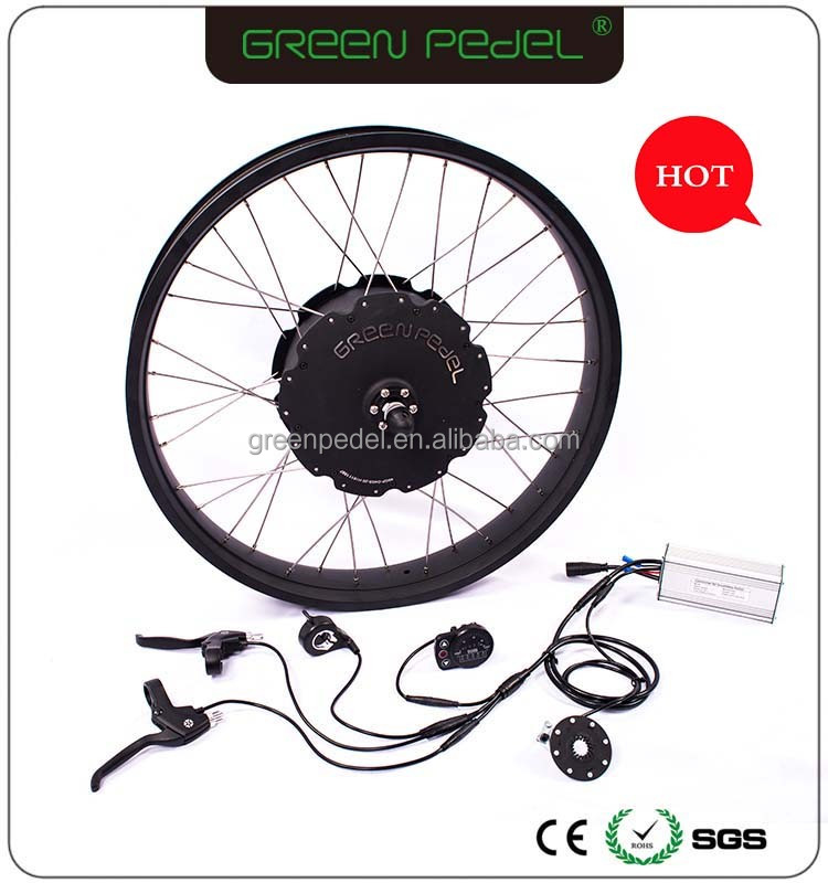 Green Pedel 26*4.0 48v 1000w fat tire electric snow bike hub motor conversion kit