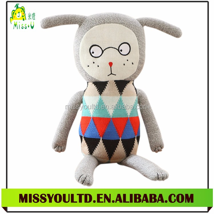 Soft Custom Plush Baby Doll Crochet Toy Knitted Doll For Child