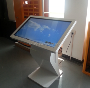 small size floor standing lcd advertising player touch screen kiosk video game player