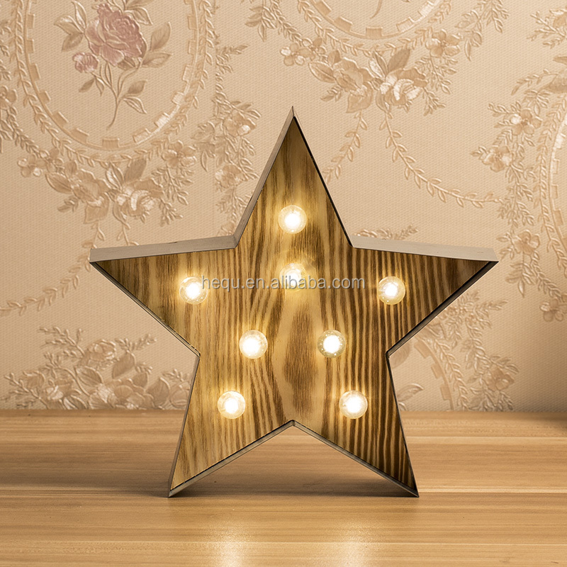 home decoration metal electronic hanging star light
