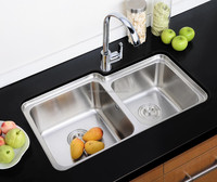 Good Quality Factory pirce Stainless Steel double Bowl Drop In kitchen Sinks