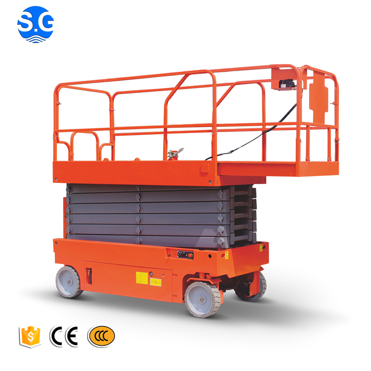 Compact structure one man self propelled small platform scissor lift
