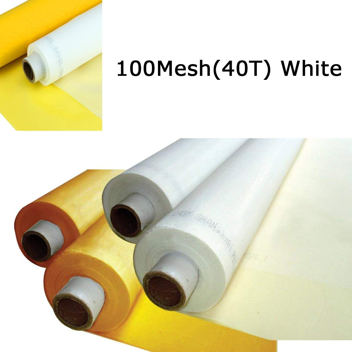 Silk Screen Printing Fabric Mesh 3 Yards 1.27 Meters Screen Printing Mesh Wide High Tension Mesh Making Ink Supplies (100 Mesh(40T))