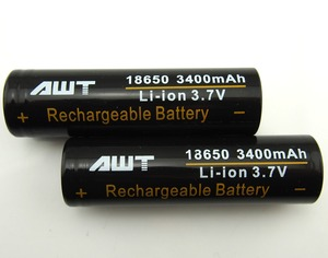 Original AWT 18650 battery for flow battery vanadium 3400mah 4A ecig 60 v 20ah battery prices for mini gp
