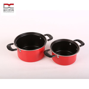 FDA/LFGB carbon steel non-stick coating bakelit saucepan with two handles