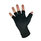 High quality Fingerless Copper Arthritis Compression Medical Support Gloves