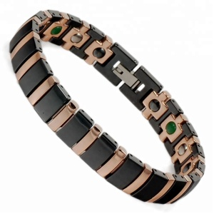 Wollet Fashion Wholesale Health Benefit Bio Magnetic Ceramic Bracelet For Men Women