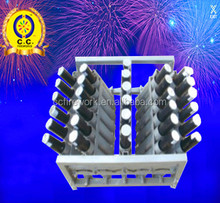 30 shots roman candle fireworks display racks/angle flexible fireworks rack