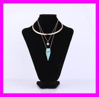 2017 Wholesale fashion lady jewelry gold necklace set designs HJ2072