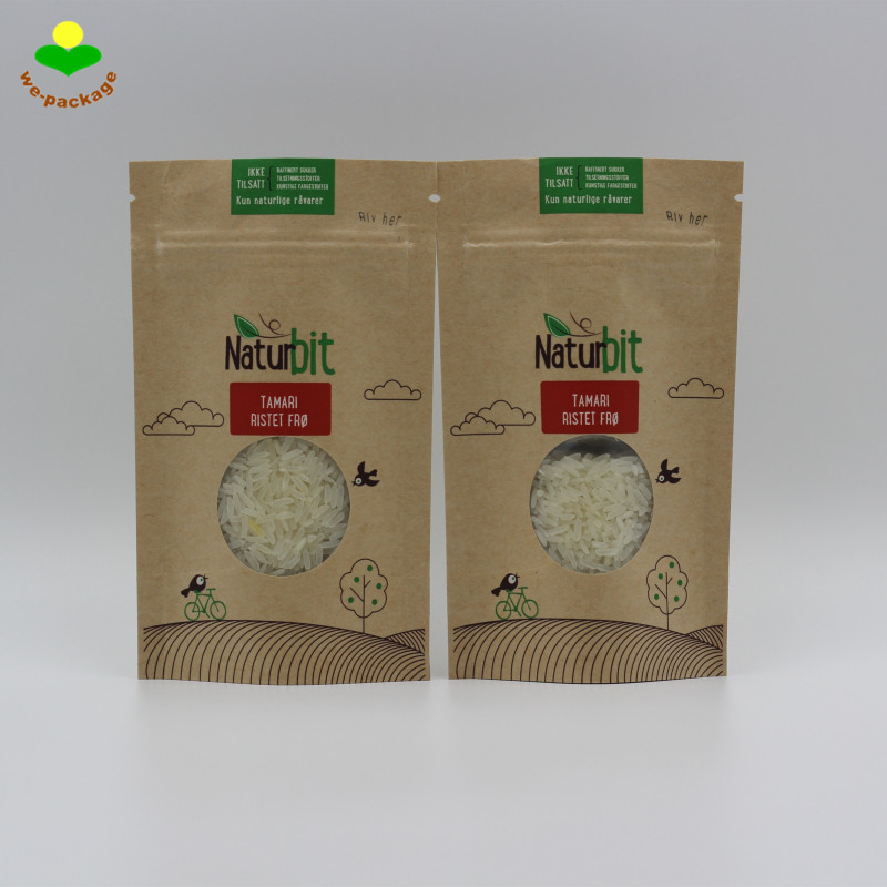 Heat Seal Biodegradable Food Packaging Bag For Spices & Nuts