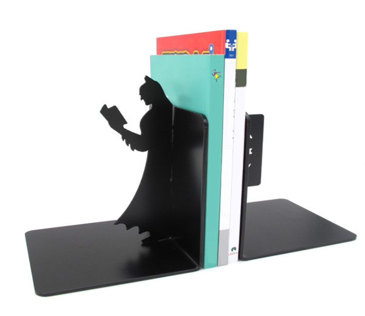 1Set Of Two Pieces Super Hero Dark Knight Batman Bookends Reinforced Steel Bookends