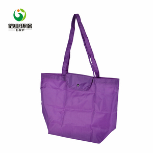 Custom folding shopping tote polyester canvas bags with logo