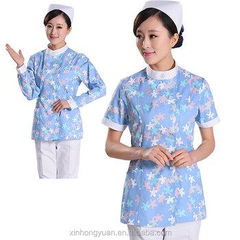 d4f5cbeac0568 Cotton Blue Broken Flower Pajamas Set Hospital Nurse Uniform - Buy ...