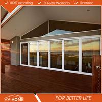 YY Home high quality aluminium glass sliding door with security screen door