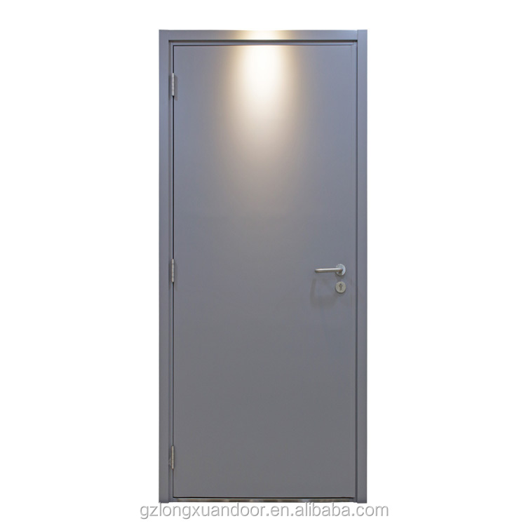 Exit security BS 2 hours fire rated single panel steel <strong>door</strong>