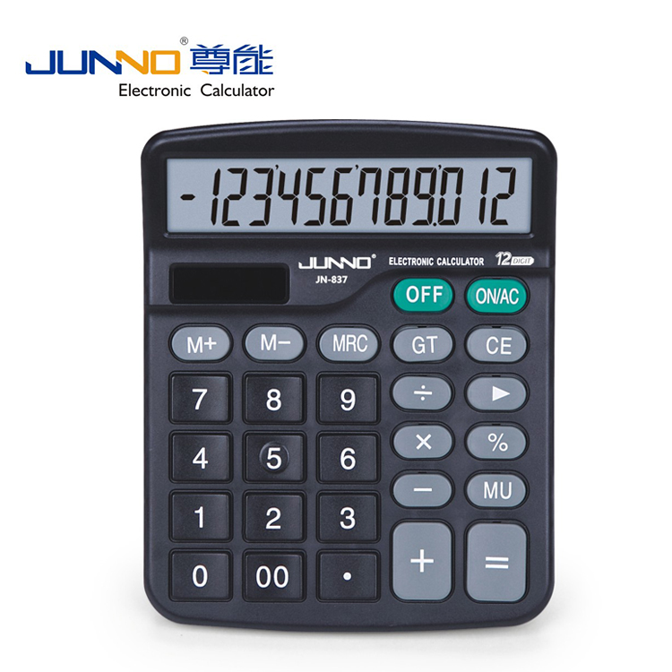 Elektronische rekenmachine 12 Digitale Display Dual Power Calculator voor business