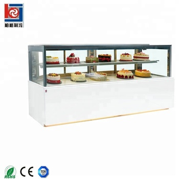 air cooling upright cake chocolate display cabinet chiller