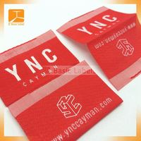 Silk Weaving Clothing woven Label/ woven label designs
