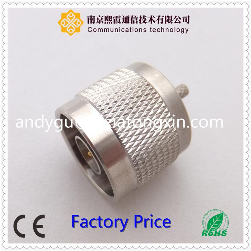 pogo pin connector N Female Flange Panel Mount Solder For Semi-Rigid Cable RF connector XiXia Communication