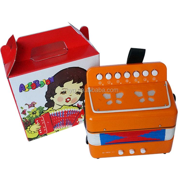 מגניב ביותר 7 כפתור 2 בס 14 טון Junior אקורדיונים, צעצוע לילדים אקורדיון, כלי GA-53