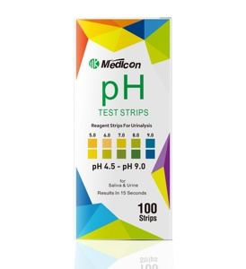 MDK ph test strips 4.5-9.0 test urine & saliva, ph strips