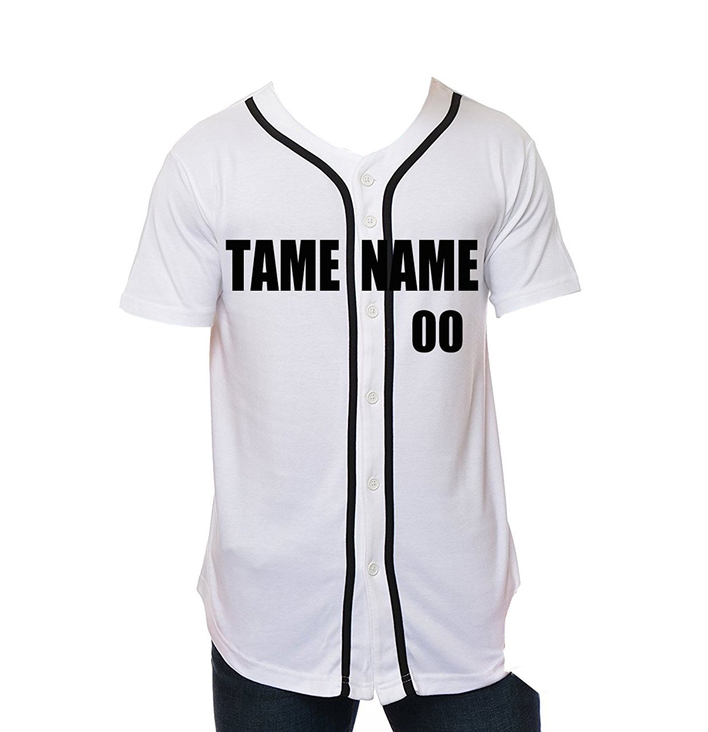 Get Quotations · Men Custom Baseball Jersey Personalized Team Uniforms with Any  Names   Numbers Button Down Sports T 2500c980a